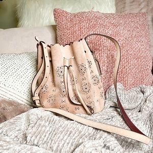 COACH Suede Leather Pink Bucket Bag